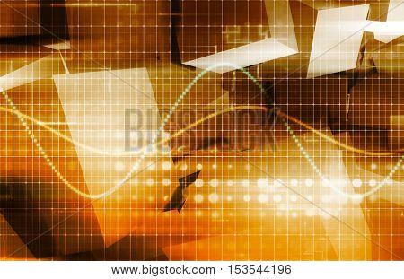 Surveillance Technology and Digital Tracking of Sensitive Data 3d Illustration Render