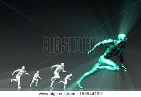 Fitness Training Program as a Art Concept 3d Illustration Render