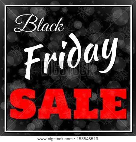 Big Black Friday sale concept vector background
