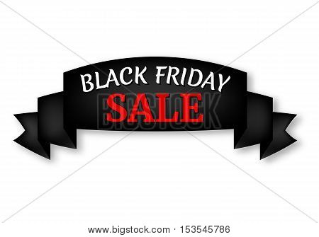 Black friday big sale banner on white background vector