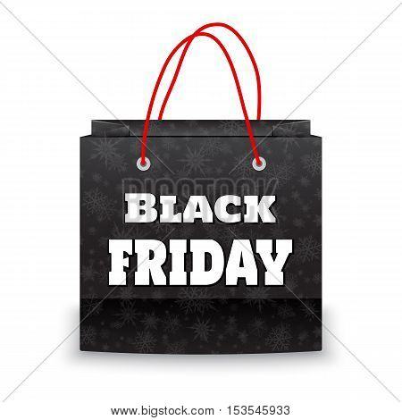 Black Friday bag on white background vector