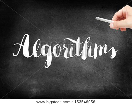 Algorithms written on a blackboard