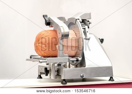meat slicer mortadella butcher equipent machine sausages