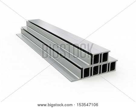 3D visualization of a metal corner on a white background