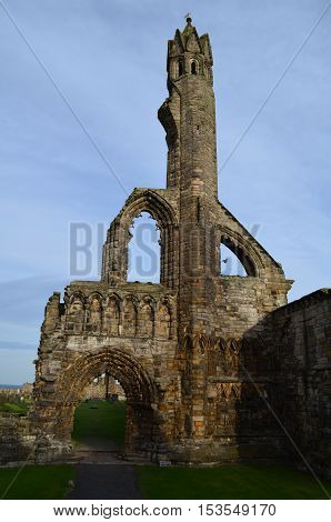 The ruins of St Andrew's Cathdral remain in Scotland.