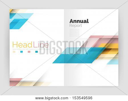 Modern geometric templates. Business flyer brochure or annual report covers. Vector illustration
