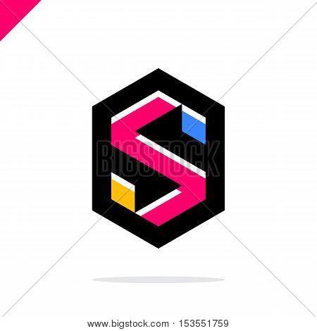 Business Corporate Letter S Logo Design Vector. Colorful Letter S Logo Vector Template. Letter S Log