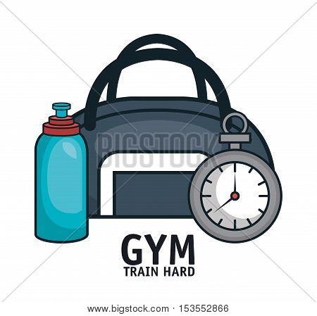 gym equipment flat icons vector illustration design