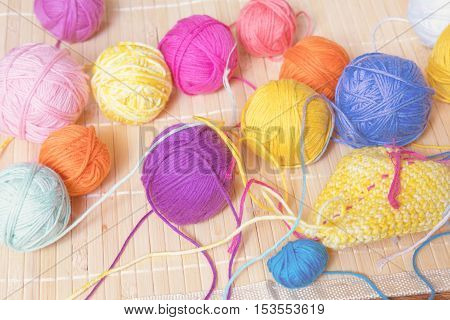 Colorful Clews Yarn And Crochet Hook