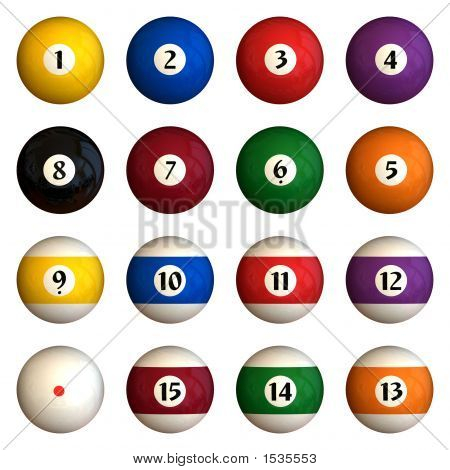 Isolated Pool Balls