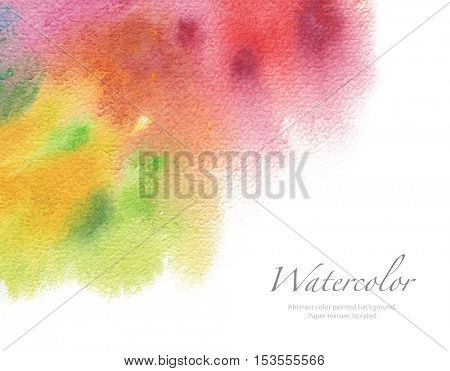 Abstract acrylic and watercolor painted background. Texture paper. Isolated.