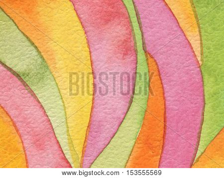 Abstract acrylic and watercolor circle painted background. Texture paper. Isolated.