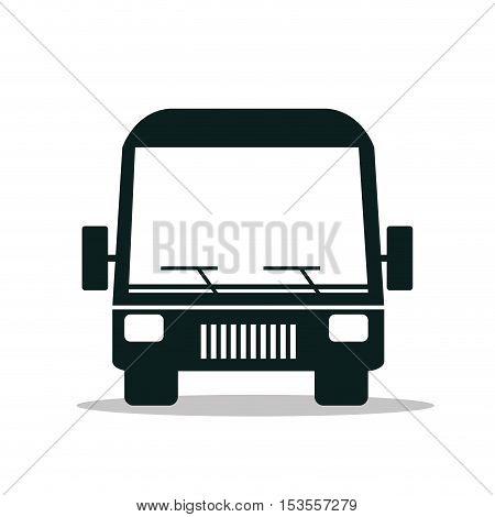 bus service public isolated icon design, vector illustration  eps10
