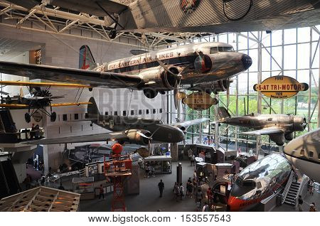 WASHINGTON DC - AUG 10, 2010: Smithsonian National Air and Space Museum in Washington DC, USA.