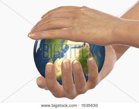 Hands Protect Earth