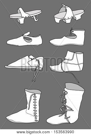 Footwear from the 13th century at Europe