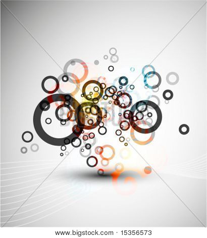 Circles composition. Vector design