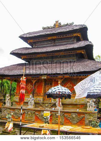Batuan Bali Indonesia - December 28 2008: The Puseh Batuan Temple at Bali Indonesia