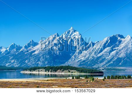 Teton Range And Island