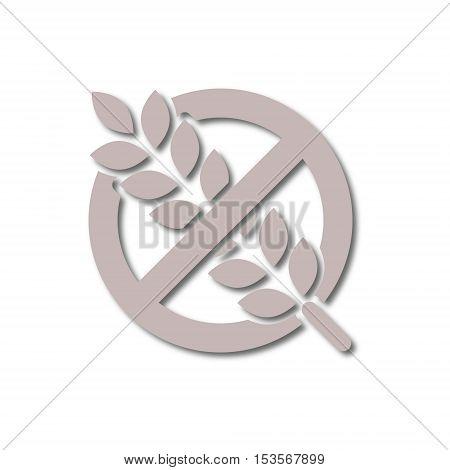 Gluten free Sign icon on white background