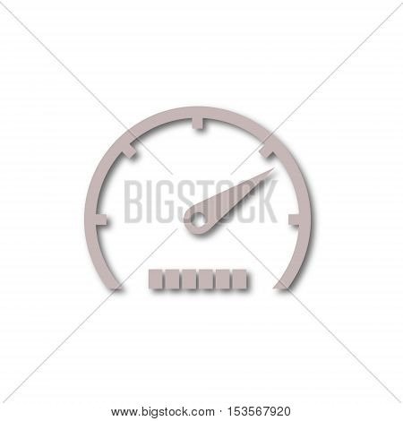 Simple Vector Speedometer icon on white background