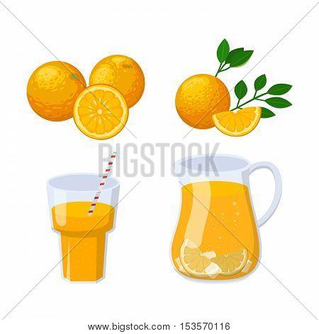 Glass of orange juice fresh drink beverage