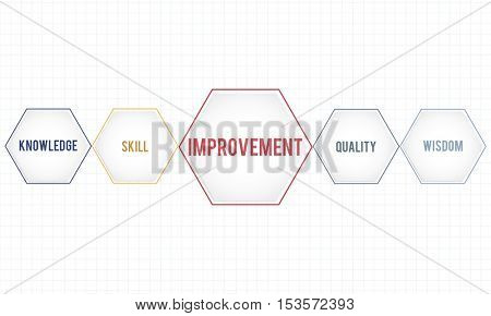 Improvement Success Training Geometric Forms Graphic