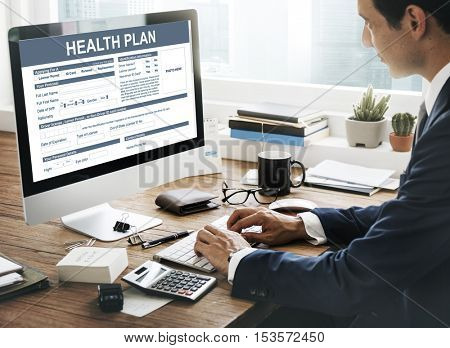 Health Plan Information Examination Concept