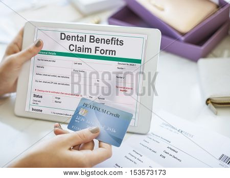 Dental Benefits Claim Form Document Concept
