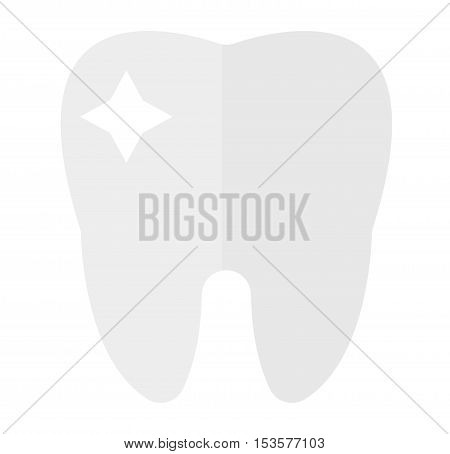 Tooth icon vector silhouette. Health, medical or doctor and dentist office symbol. Oral care, dental, dentist office, tooth health, tooth care, clinic. Tooth logo. Tooth icon silhouette