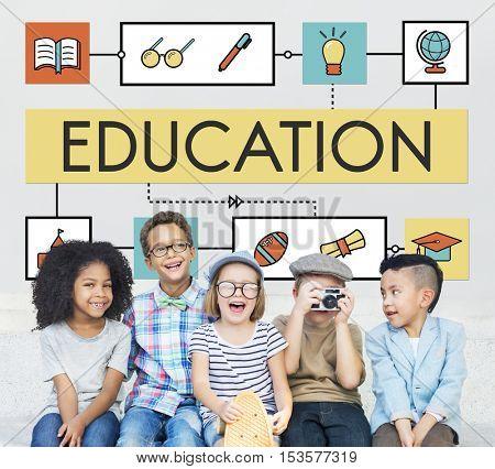 School Teaching Study Literacy Education Concept