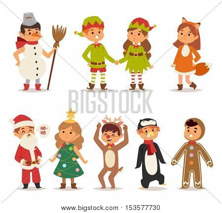 Kids costume vector illustration