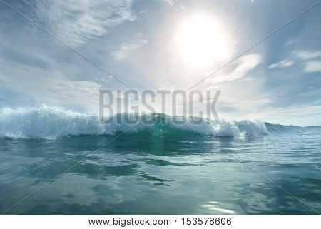 Wave splash details abstract background travel concept