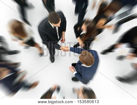 Business handshake. Business handshake and business people concept