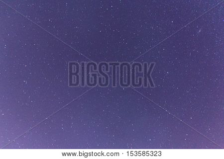 Dark night sky and many stars , nature