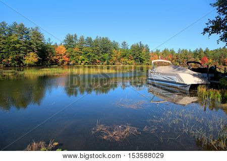 Squam river landscape in New Hampshire