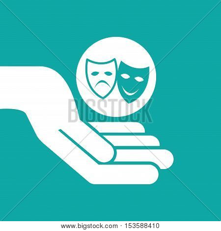 theatrical mask clapper movie graphic vector illustration eps 10