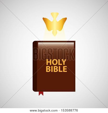 holy bible with holy bible design icon vector illustration
