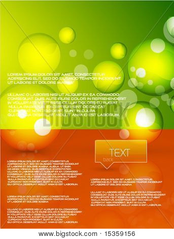 Vector glass shapes background