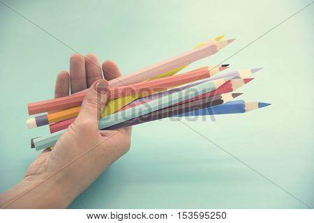 Color Pencil Drawing Design Creativity Art Paper Concept