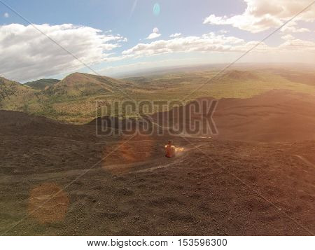 Sand Volcano Boarding Ride