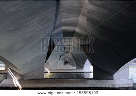 The texture under the bridge - stock photo