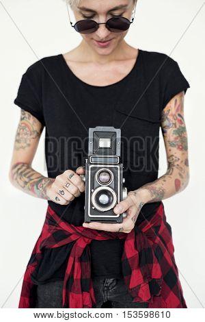 Tattoo Camera Photography Media Creative Film Concept