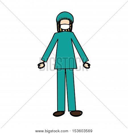 medical doctor cartoon icon image vector illustration design