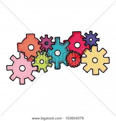 colored gear cartoon icon image vector illustration design