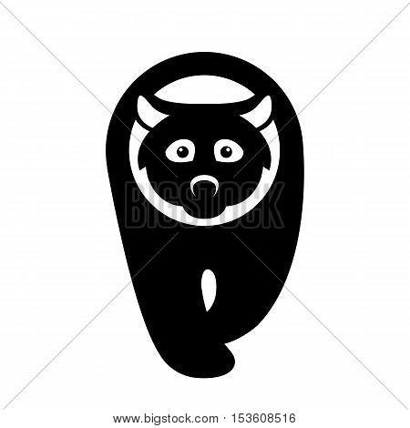 Bear Flat vector illustration style side front