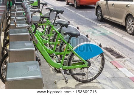 public bicycle for rent in the city