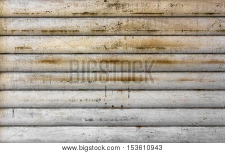 Background of white grunge metallic roller shutter door