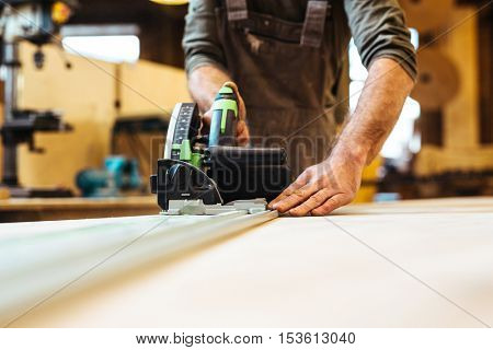 Joiner at work