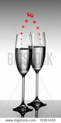 Champagne and love